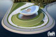 پروژه معماری پاویون فرهنگی رودخانه آرک